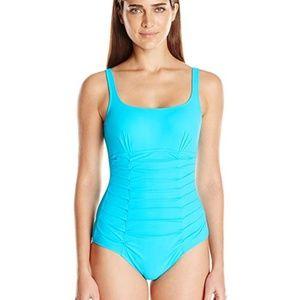 NWT Gottex tummy control one piece blue swimsuit